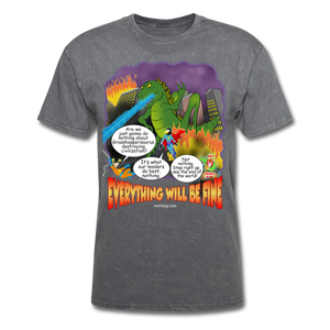 Grasshoppersaurus Everything Will Be Fine Text - mineral charcoal gray