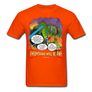 Grasshoppersaurus Everything Will Be Fine Text - orange