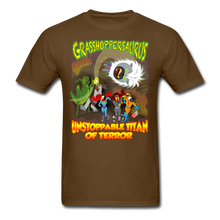 Load image into Gallery viewer, Grasshoppersaurus vs King Cotton Top - brown
