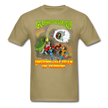 Load image into Gallery viewer, Grasshoppersaurus vs King Cotton Top - khaki