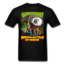Load image into Gallery viewer, Grasshoppersaurus vs King Cotton Top - black