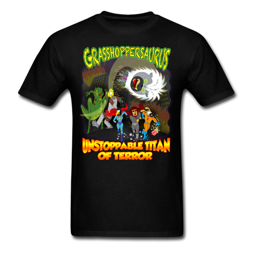 Grasshoppersaurus vs King Cotton Top - black