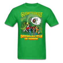 Load image into Gallery viewer, Grasshoppersaurus vs King Cotton Top - bright green