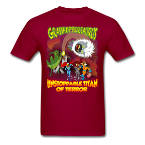 Grasshoppersaurus vs King Cotton Top - dark red