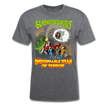 Load image into Gallery viewer, Grasshoppersaurus vs King Cotton Top - mineral charcoal gray