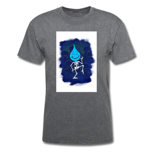 Cute Oil Oily Blue Boy - mineral charcoal gray
