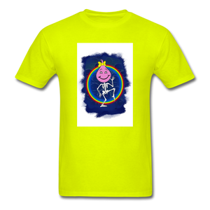 Cute Oil Oily Pink Rainbow Girl - safety green