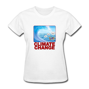 Climate Change Wave - white