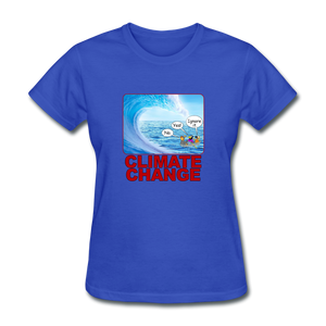Climate Change Wave - royal blue