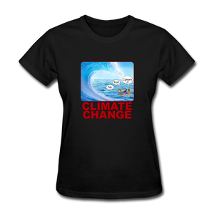 Climate Change Wave - black
