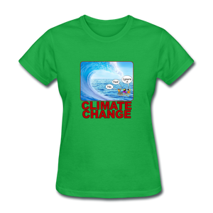 Climate Change Wave - bright green