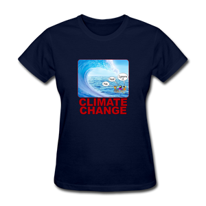 Climate Change Wave - navy