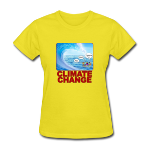 Climate Change Wave - yellow