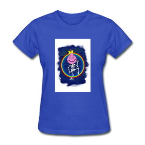Cute Oil Oily Pink Rainbow Girl - royal blue