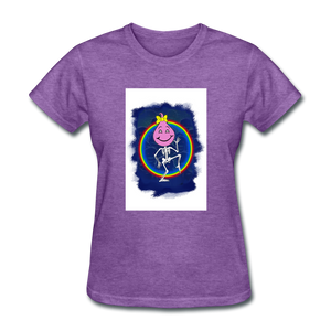 Cute Oil Oily Pink Rainbow Girl - purple heather