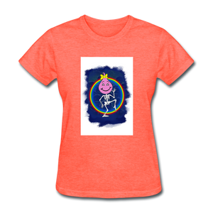 Cute Oil Oily Pink Rainbow Girl - heather coral