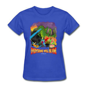 Grasshoppersaurus Everything Will Be Fine No Text - royal blue