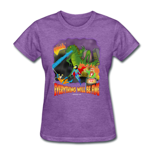 Grasshoppersaurus Everything Will Be Fine No Text - purple heather