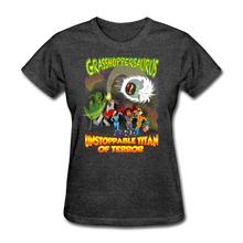 Load image into Gallery viewer, Grasshoppersaurus vs King Cotton Top - heather black
