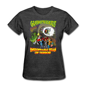 Grasshoppersaurus vs King Cotton Top - heather black