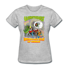 Load image into Gallery viewer, Grasshoppersaurus vs King Cotton Top - heather gray