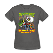 Load image into Gallery viewer, Grasshoppersaurus vs King Cotton Top - charcoal