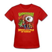 Load image into Gallery viewer, Grasshoppersaurus vs King Cotton Top - red