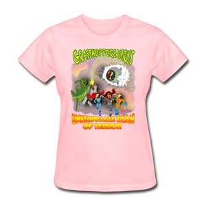 Grasshoppersaurus vs King Cotton Top - pink