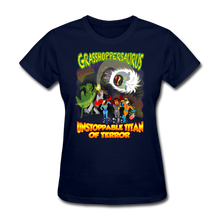 Load image into Gallery viewer, Grasshoppersaurus vs King Cotton Top - navy