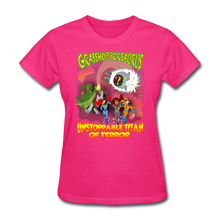 Load image into Gallery viewer, Grasshoppersaurus vs King Cotton Top - fuchsia