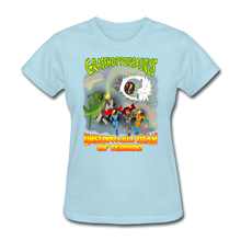 Load image into Gallery viewer, Grasshoppersaurus vs King Cotton Top - powder blue