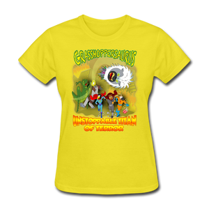 Grasshoppersaurus vs King Cotton Top - yellow
