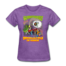 Load image into Gallery viewer, Grasshoppersaurus vs King Cotton Top - purple heather