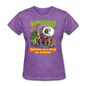 Grasshoppersaurus vs King Cotton Top - purple heather