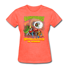 Load image into Gallery viewer, Grasshoppersaurus vs King Cotton Top - heather coral