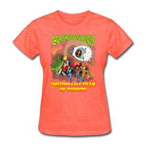 Grasshoppersaurus vs King Cotton Top - heather coral
