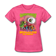 Load image into Gallery viewer, Grasshoppersaurus vs King Cotton Top - heather pink