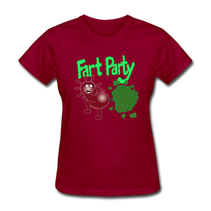 It's Not About Larry Fart Party - dark red