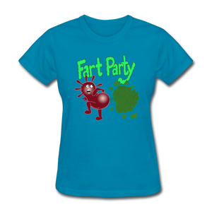 It's Not About Larry Fart Party - turquoise