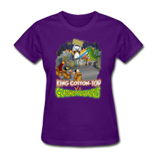 Load image into Gallery viewer, King Cotton Top vs Grasshoppersaurus - purple