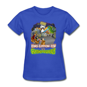 King Cotton Top vs Grasshoppersaurus - royal blue