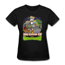 Load image into Gallery viewer, King Cotton Top vs Grasshoppersaurus - black