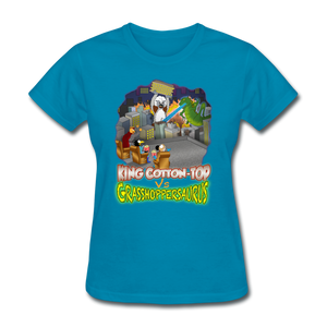 King Cotton Top vs Grasshoppersaurus - turquoise