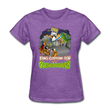 Load image into Gallery viewer, King Cotton Top vs Grasshoppersaurus - purple heather