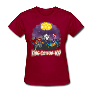 King Cotton Top To The Rescue - dark red