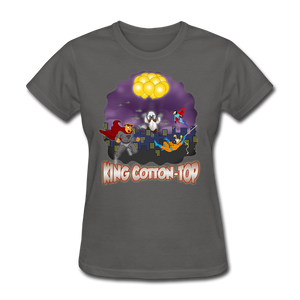 King Cotton Top To The Rescue - charcoal