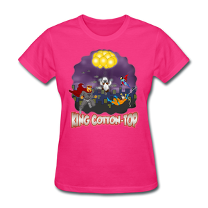 King Cotton Top To The Rescue - fuchsia