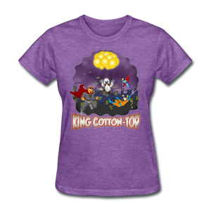 King Cotton Top To The Rescue - purple heather