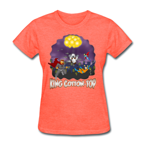 King Cotton Top To The Rescue - heather coral