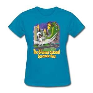 King Cotton Top Lets Fly - turquoise